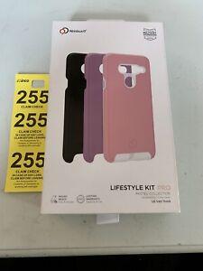 Nimbus9 LifeStyle Kit Pro Interchangeable Case for V40 ThinQ - Pink/Purple/Black