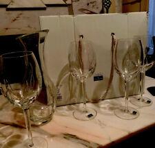Waterford Crystal John Rocha 4 Wine Goblets Glasses & Carafe 25cm