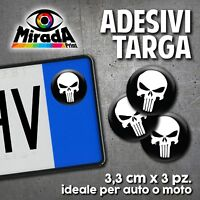 ADESIVI STICKERS BOLLINO TARGA PUNISHER FRANK CASTLE SKULL MOVIE AUTO MOTO PLATE