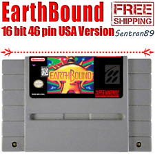 EarthBound Game Cartridge For Nintendo Super Snes NTSC USA Version 16 Bit Tested