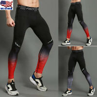 Men Compression Tight Base Layer Pants Long Leggings Gym Joggers  Sport Trousers