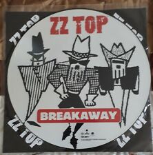 """zz top LP 12"""" picture disc breakaway nm ORIG LIMITED EDITION 1994"""