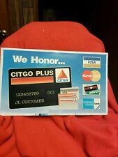 1996 Citgo Plus Credit Card Advertising Metal Sign 2of4