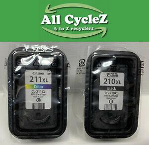 Genuine OEM Canon PG-210XL Black & CL-211XL Color Ink New!