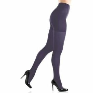 Spanx Sara Blakeley Tights Size B Purple Opaque All Day Shape Flattens Stomach