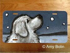 Great Pyrenees Dog aluminum LICENSE PLATE Amy Bolin Counting Snow PERSONALIZE IT
