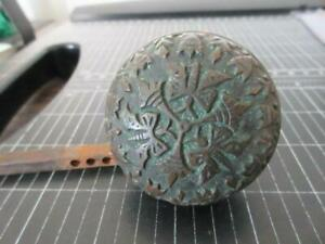 Antique Norwalk Eastlake Butterflies Ornate Solid Brass Door Knob