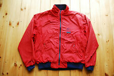 Men's Vintage Red Nylon Zip Up Fleece Lined Bomber Jacket by Patagonia L