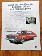 1973 Oldsmobile Omega Ad Meet the New Compact Olds