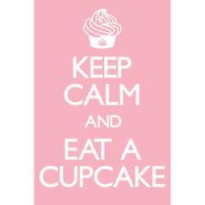 Keep Calm and Eat a Cupcake POSTER 61x91cm NEW Art Creative Humour Inspirational