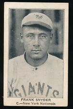 1922 E121 American Caramel (Series 120) -FRANK SNYDER (New York Giants)