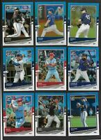 2020 Panini Donruss Optic CAROLINA BLUE Baseball Card You Pick Complete Your Set
