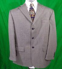 Haggar Collections Sport Coat Blazer 3-button Gray Birdseye Size 44R Jacket Wool