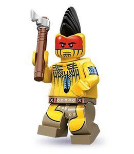 Lego minifig series 10 Indian Warrior tomahawk mohawk suit wild west cowboy sets