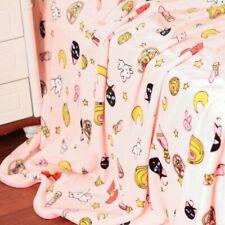 Anime Sailor Moon Luna Cat Flannel Blanket Bed Rug Plush Sheets Pillow Case Pink