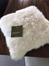 Bowron Longwool Sheepskin Single Sided Cushion in Champagne.