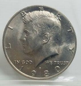 1980 D Kennedy Half Dollar | BU | Denver | Business Strike Kennedy