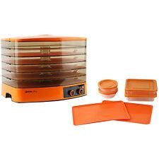 J-ONE JDF-300F Food Dryer Dehydrator Machine Antibacterial 5 Tray Timer / Orange