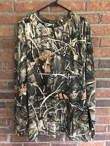 RedHead Camoflauge Size XL Long Sleeve Crewneck Men's Shirt