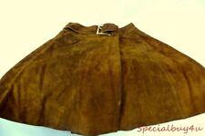 AB1 VTG Light Brown Leather Skirt Size 5/6 Original Cali Latigo-West Leatherwear