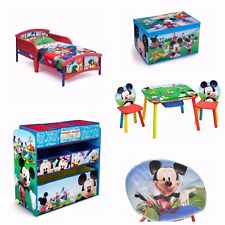 Mickey Mouse Toddler Bedroom Furniture Set 5 Piece Kids Room Disney Toy Storage
