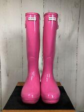 Hunter Original Tall Boots Pink UK 7 EU 40/41 Wellies Wellingtons (ref: 416)