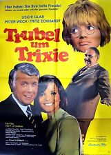 "1 Original Filmplakat A1, ""Trubel um Trixie"", mit Uschi Glas, 1972"
