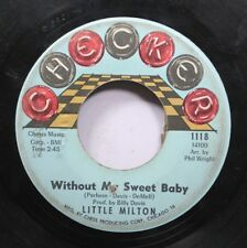 Soul 45 Little Milton - Without My Sweet Baby / Help Me Help You On Checker