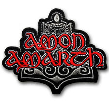 Amon Amarth Patch Embroidered Melodic death metal Band Emperor Emblem Logo #