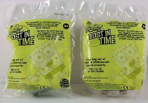 Burger King  Lost in TIme  Spongebob Squarepants  lot of 2  2005  NEW
