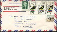 Estados Unidos 1973 cubierta aéreo comercial a Inglaterra #c 32702