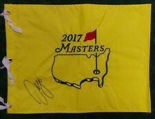 Sergio GARCIA SIGNED AUTOGRAPH AFTAL COA 2017 Golf Flag US PGA Masters Winner