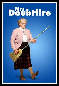 Mrs Doubtfire Broom Guitar Movie Poster Print & Unframed Canvas Prints