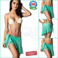 Coqueta Sarong Pareo Canga Swimsuit Spandex Cover up Swimwear Wrap Chiffon New