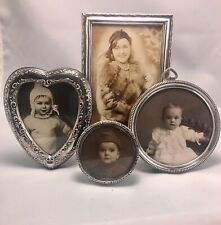 Group of 4 Vintage Sterling Silver Table Top Easel Picture Frames