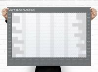 A1 Large 2019 Year Wall Planner ~ Yearly Annual Calendar Chart Size