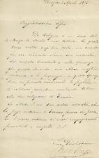 Lettera Autografo Compositore Beniamino Cesi a Emilia Peruzzi Firenze 1875
