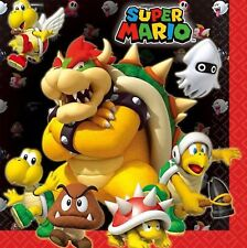 Super Mario Brothers Party Supplies - Mario Luncheon Napkins/Serviettes - 16pk