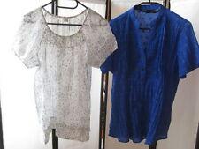 s.Oliver Bexley´s 2er SET Tunika Bluse Gr.42-M weiß-royalblau Edel Print & TOP!