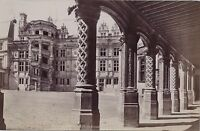Castello Di Blois 2 Foto Doppio / Verso Vintage Ca 1880
