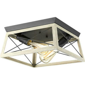 Briarwood Collection Two-Light Flush Mount by Progress Lighting