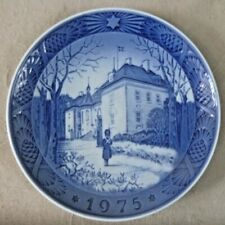 Vintage Ceramics - Royal Copenhagen Christmas Plate 1975 The Holidays - Denmark