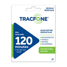 TracFone $29.99 Refill -- 120 Minutes / 90 Days. Loaded directly.