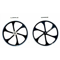 """CDHPOWER 26"""" Aluminum Mag Wheels with Disc Brake Rotor Adapter and 28T Sprocket"""