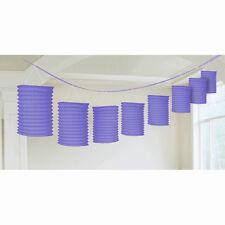 12ft Purple Party Paper Birthday Lantern Garland Decoration