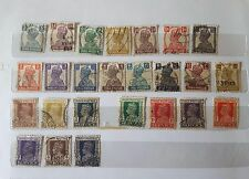 Nice collection of 32 different Indian stamps on King Gorge VI issue in 1937-43