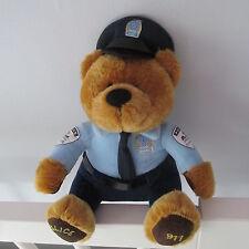"MONTREAL QUEBEC CANADA 911 Police Bear FLIK mascot PLUSH doll OLD LOGO 9 "" RARE"