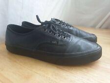Vans Black Leather UK Size 10 Smart Shoes Pumps Trainers