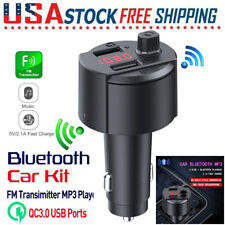 Wireless Bluetooth 4.2 FM Transmitter QC3.0 Radio Adapter Car Kits 2 USB Charger
