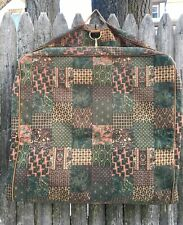 Vintage 90's ACCESSORIES UNLIMITED Paisley Patchwork Leather Trim garment bag